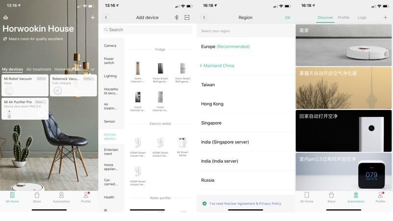 Xiaomi Mi Smart inteligentná domácnosť aplikácia